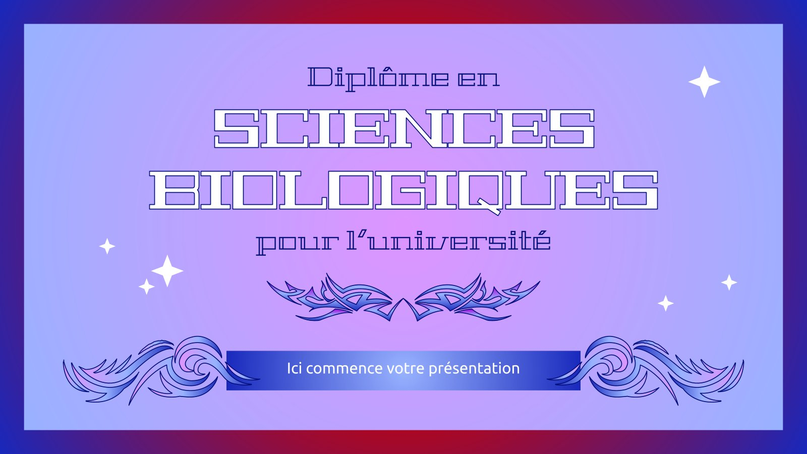Plantilla de presentación Diplôme en sciences biologiques pour l'université