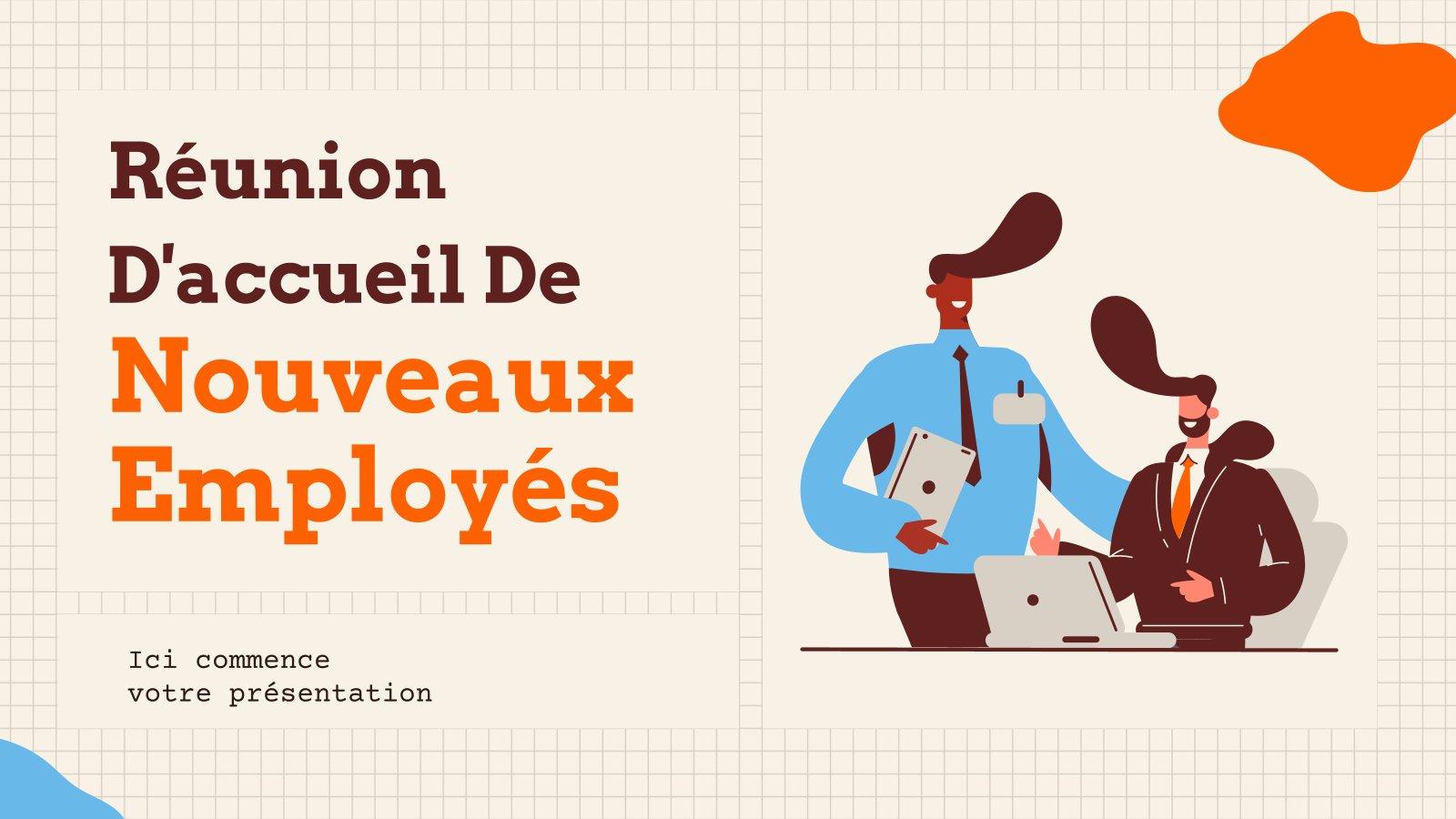 Réunion D'accueil De Nouveaux Employés Präsentationsvorlage