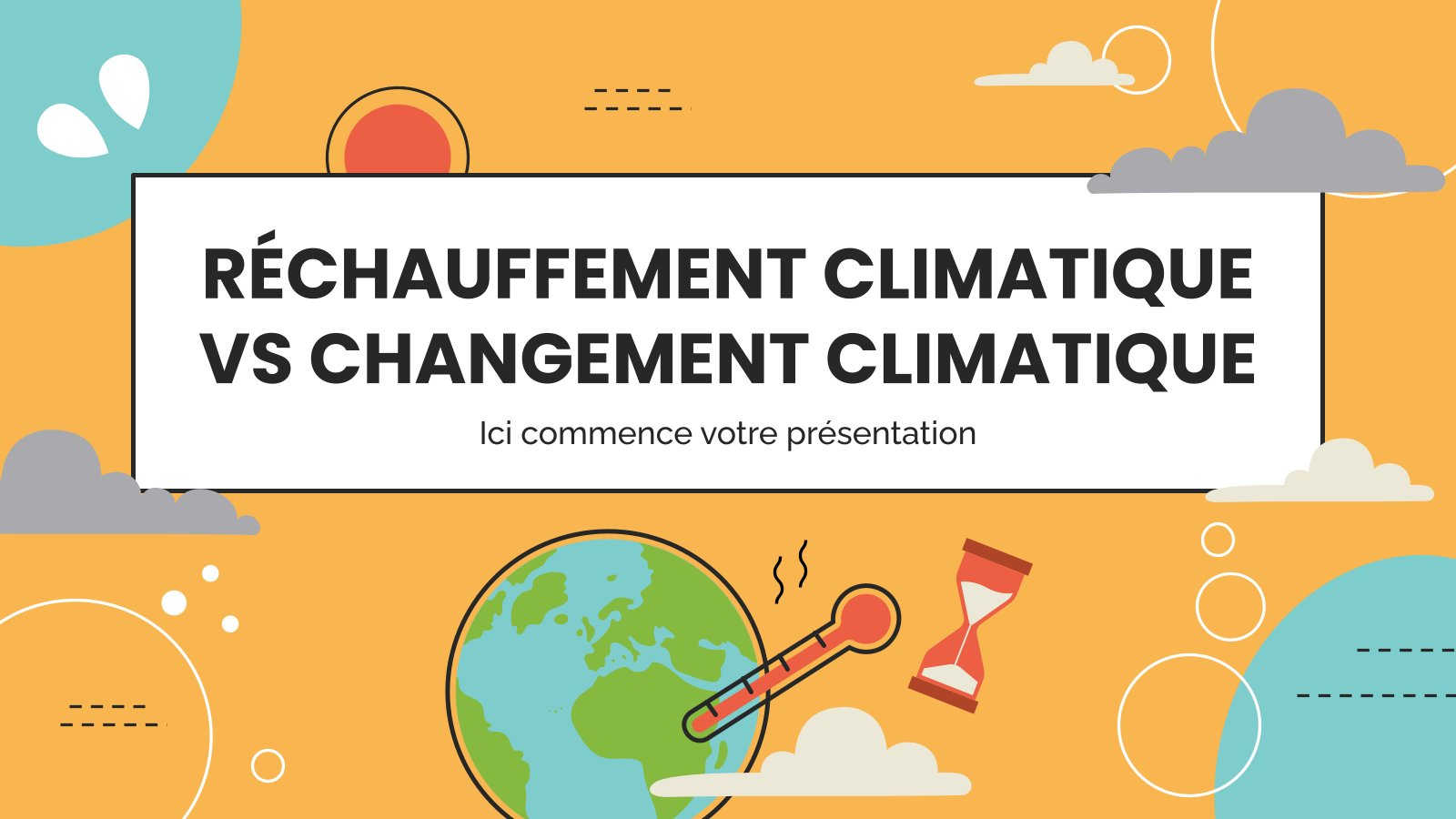 Réchauffement climatique vs changement climatique Präsentationsvorlage