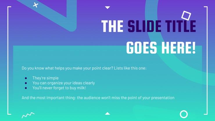 Geek Pride Day : Modèles de présentation