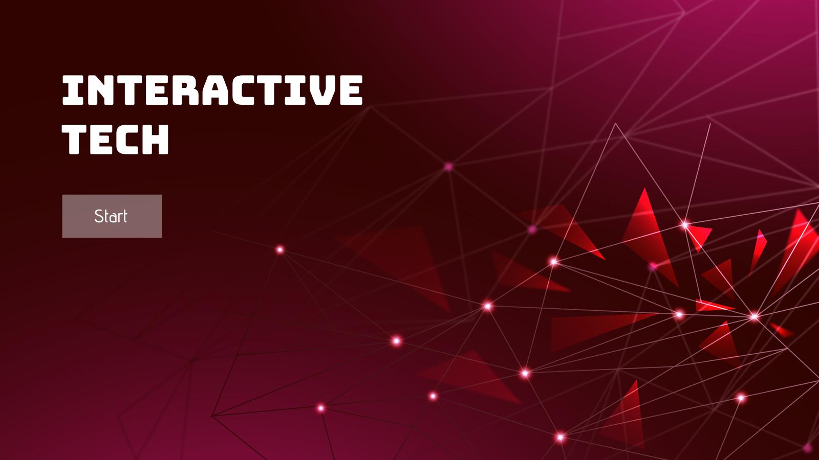 Modelo de apresentação Tecnologia interativa