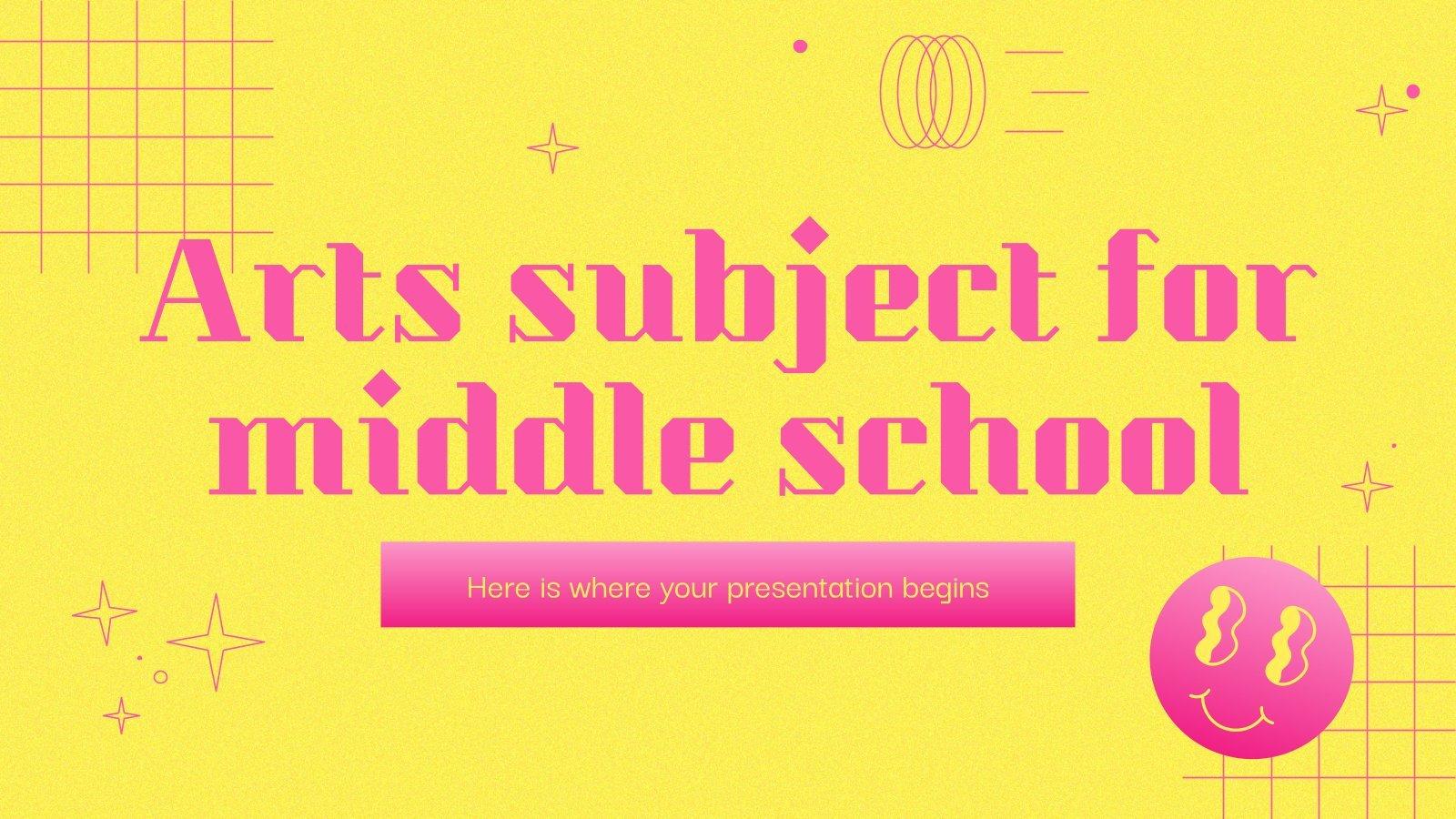 Modelo de apresentação Arte para o ensino médio: Caligrafia