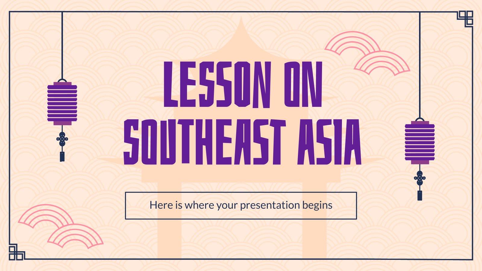 Modelo de apresentação Lição sobre o sudeste asiático