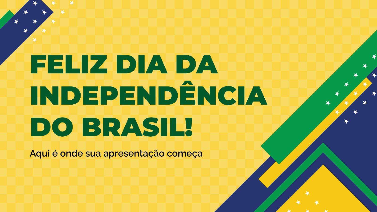 Feliz Dia da Independência do Brasil! Präsentationsvorlage