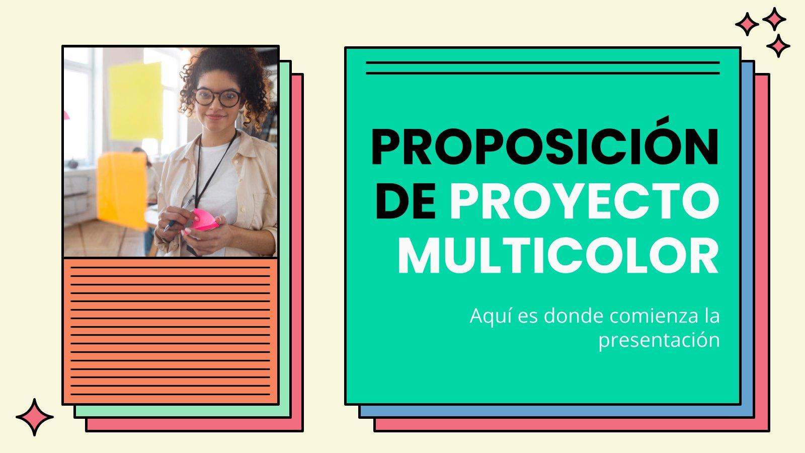 Proposition de projet multicolore : Modèles de présentation