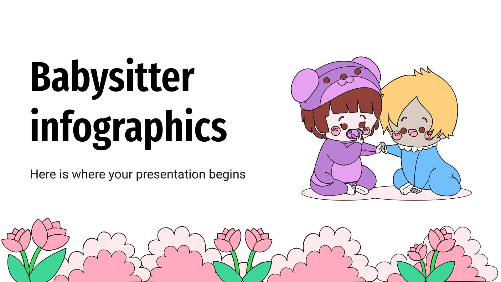 Plantilla de presentación Infografías para el cuidado de niños