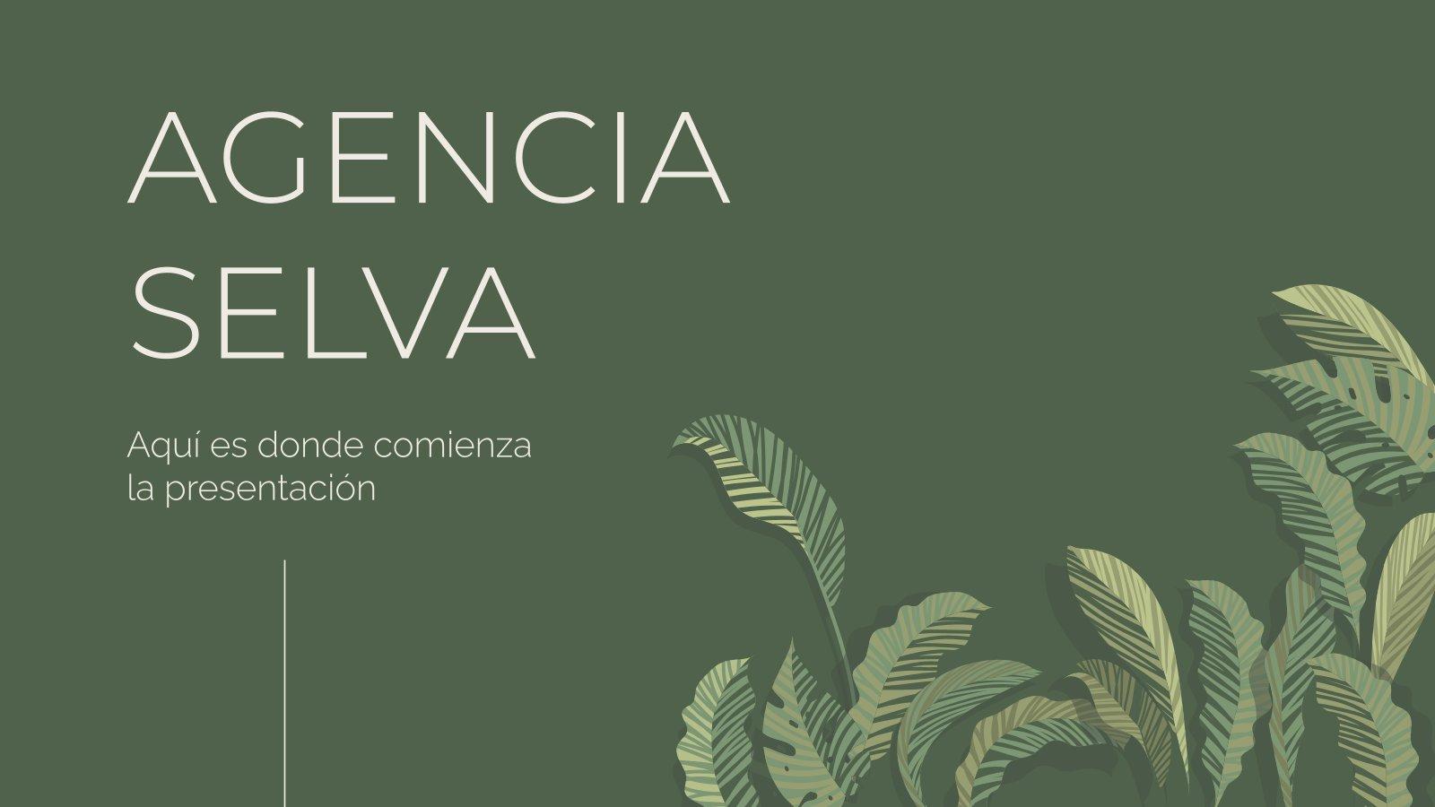 Plantilla de presentación Agencia Selva