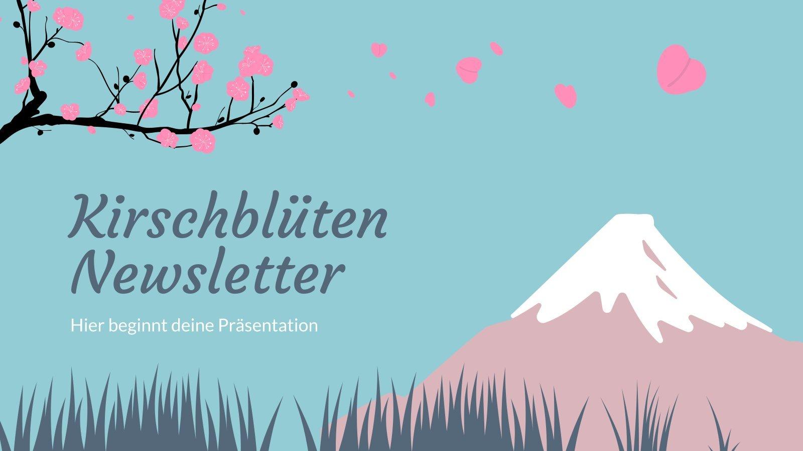 Kirschblüten-Newsletter presentation template