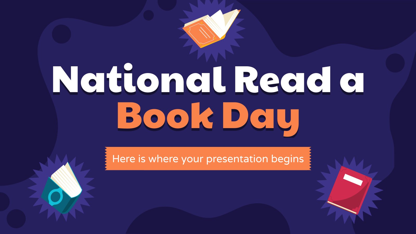 National Read a Book Day presentation template