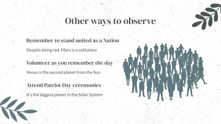 Modelo de apresentação Dia Nacional de Serviço e Memória