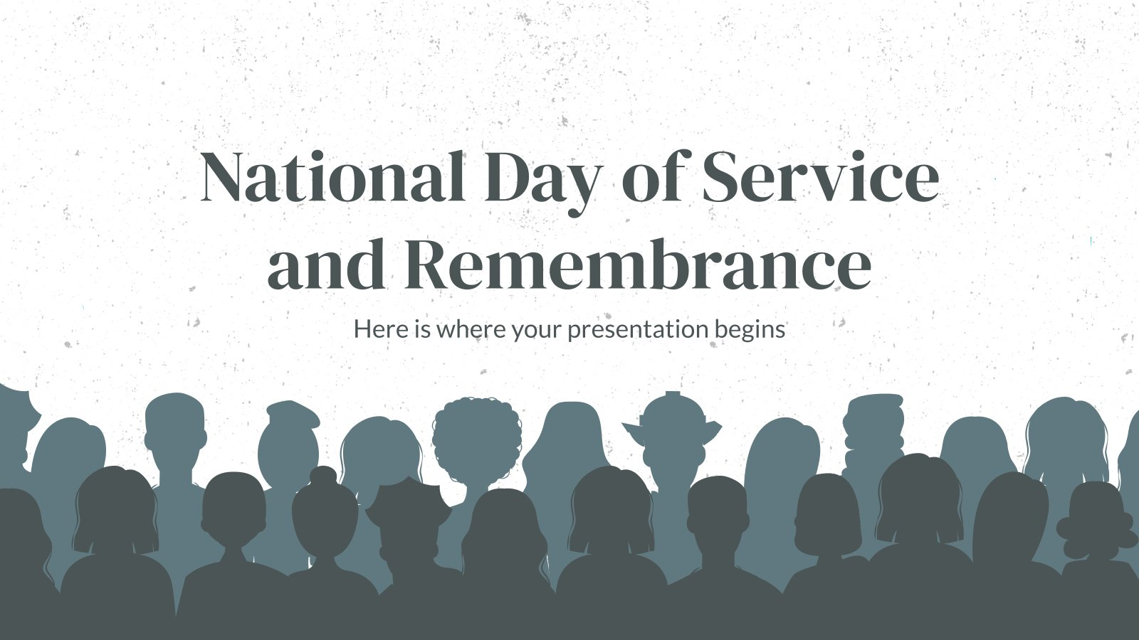 National Day of Service and Remembrance Präsentationsvorlage