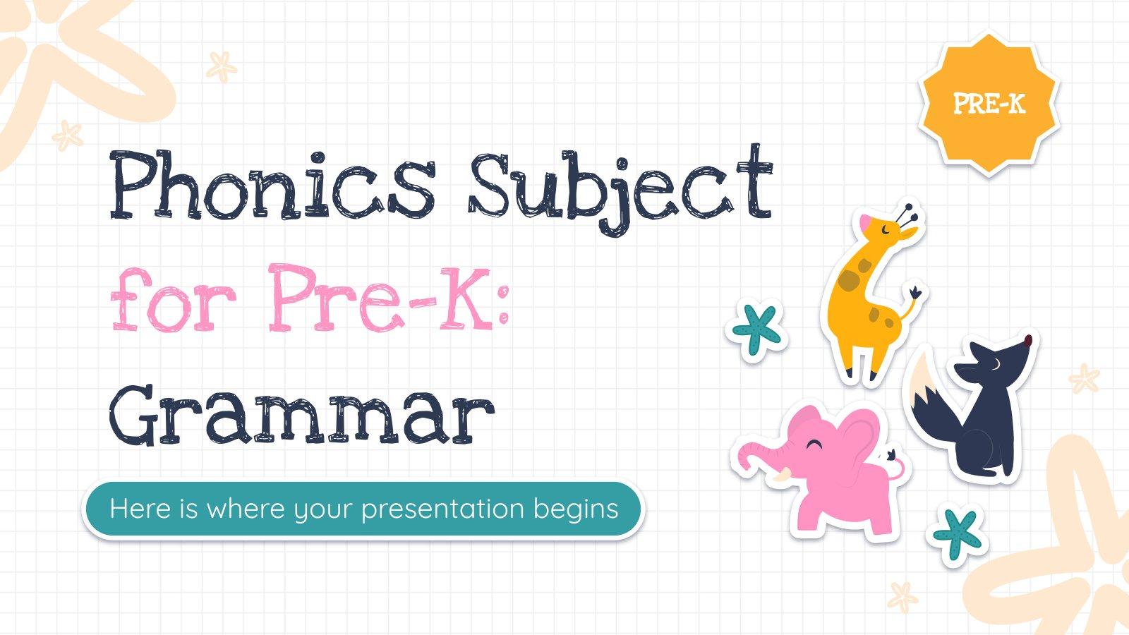 Grammatik für die Vorschule Präsentationsvorlage