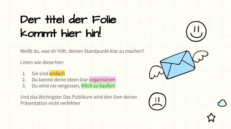 Sketchnotes Hintergrund Firmenprofil presentation template