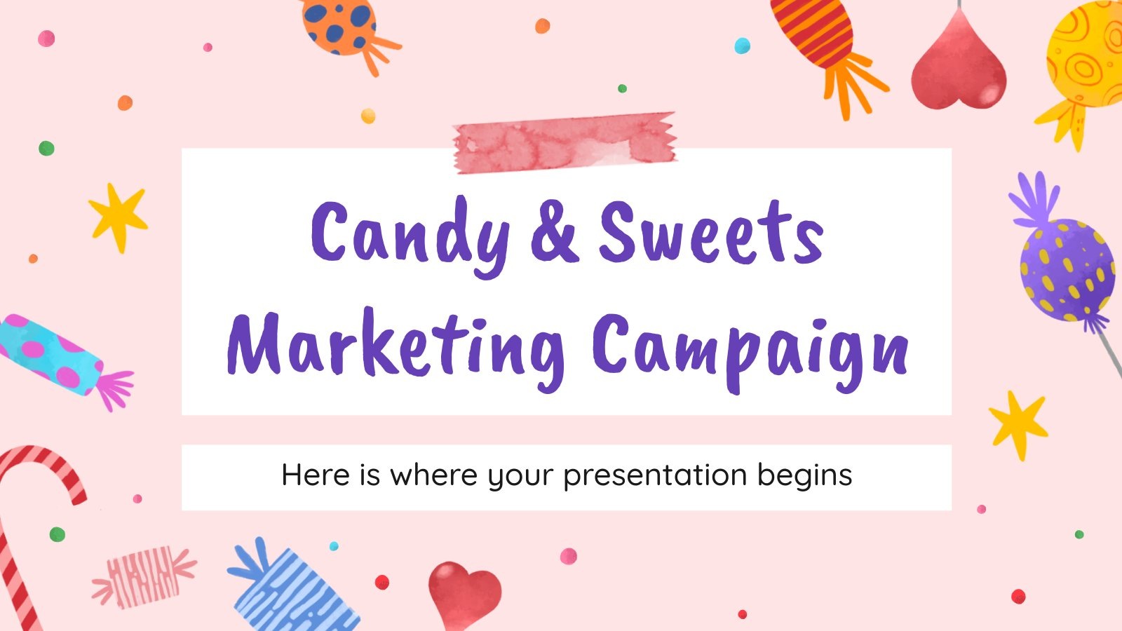 Candy & Sweets Marketing Campaign presentation template