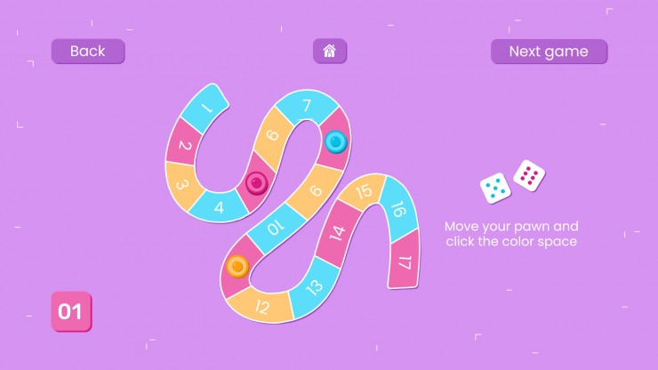 Learning Board Game presentation template
