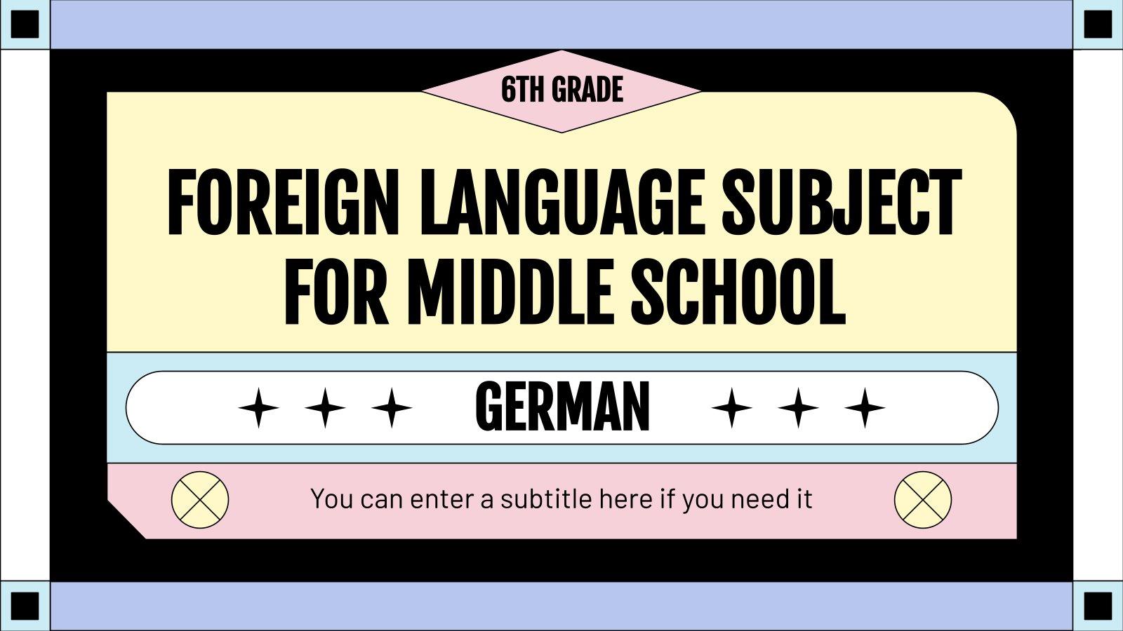 Deutsch als Fremdsprache Präsentationsvorlage