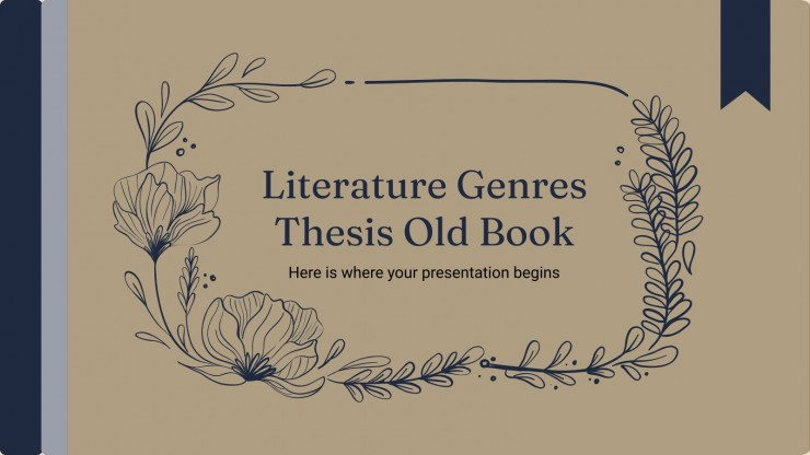 Literature Genres Thesis Old Book Style presentation template