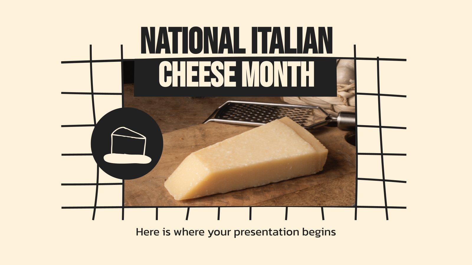 Plantilla de presentación Mes del queso en Italia