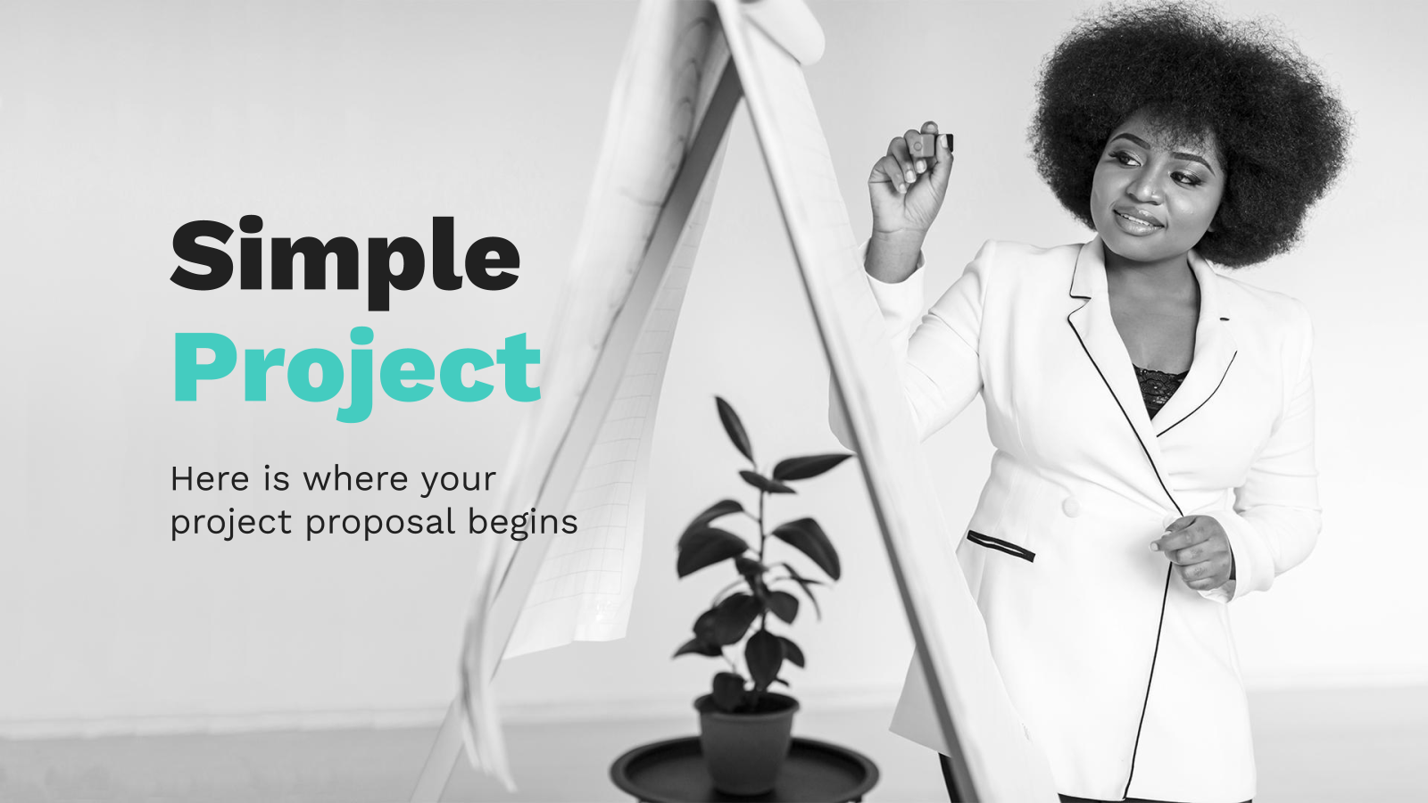 Simple Project Proposal presentation template