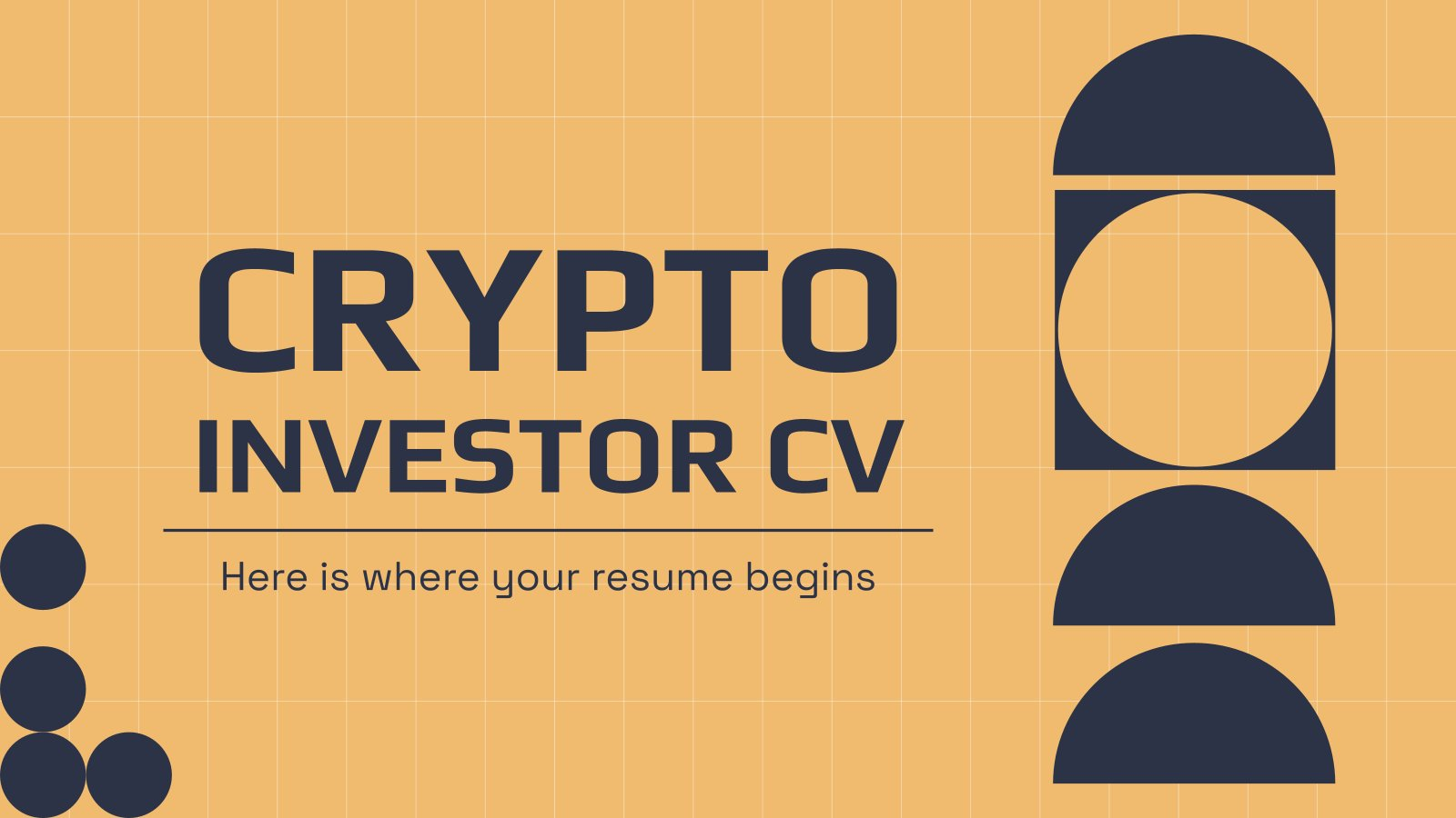 Crypto Investor CV Minithema Präsentationsvorlage