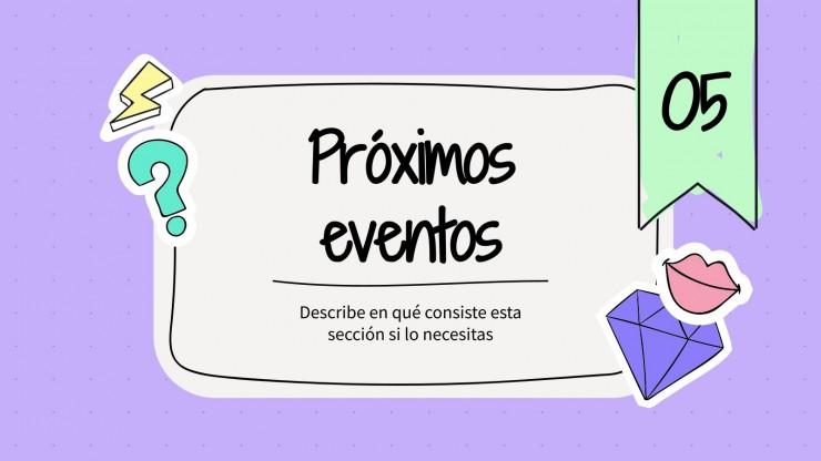 Boletín Informativo Desenfadado : Modèles de présentation