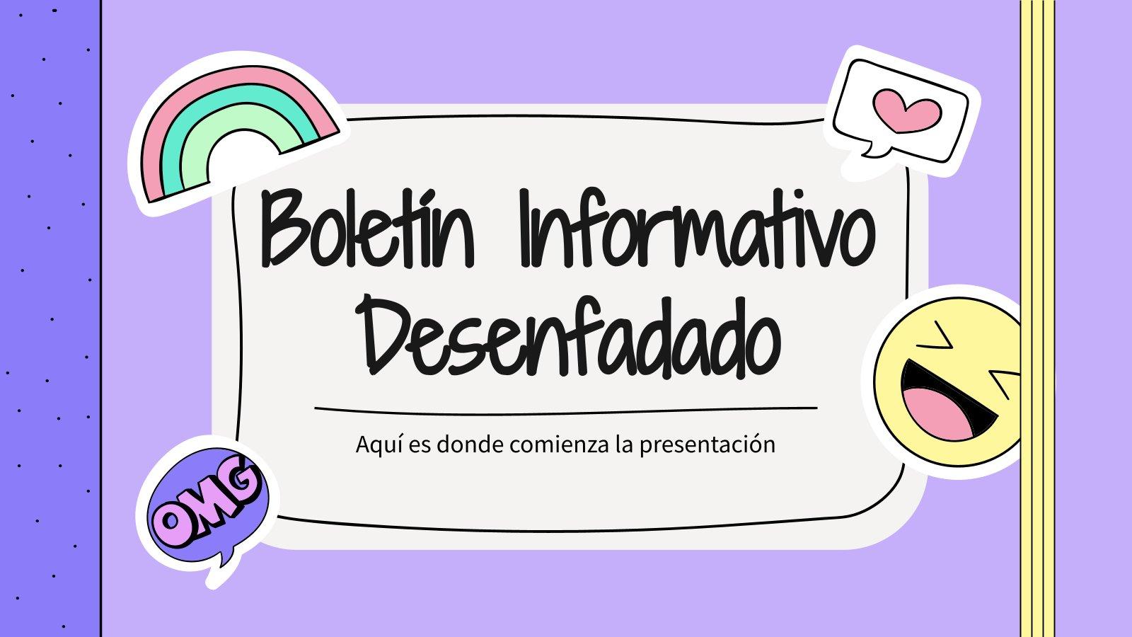 Boletín Informativo Desenfadado Präsentationsvorlage
