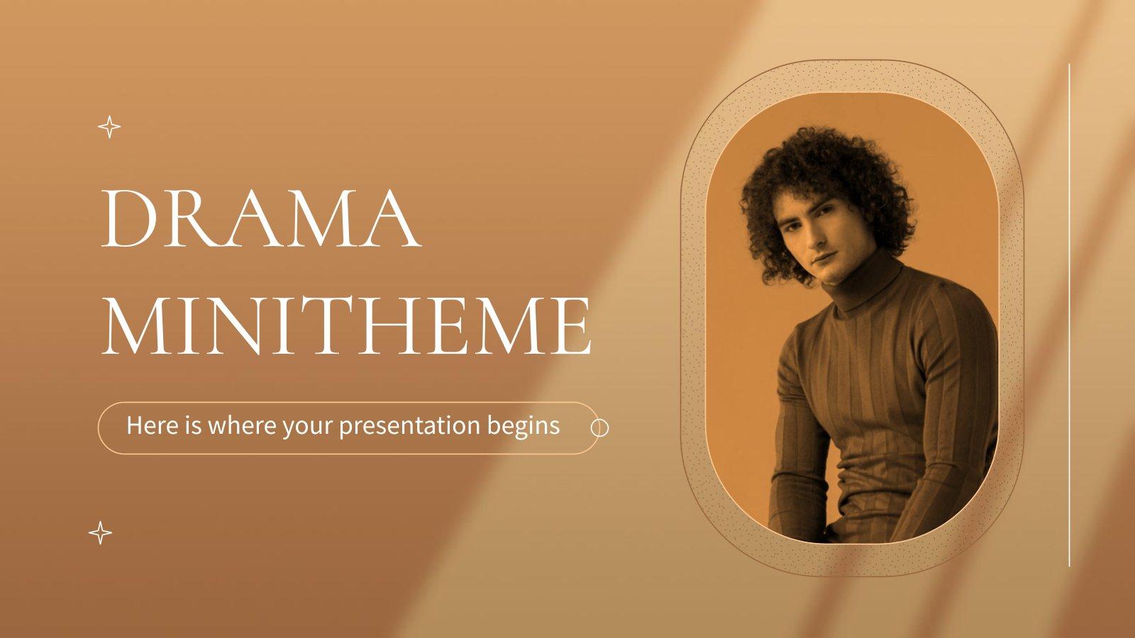 Drama Minitheme presentation template