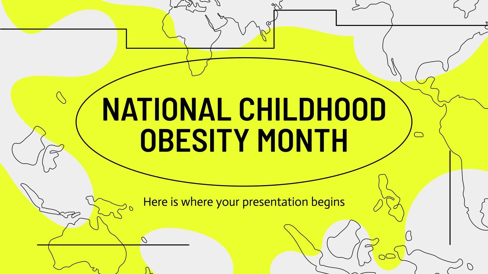 Plantilla de presentación Mes de la Obesidad Infantil