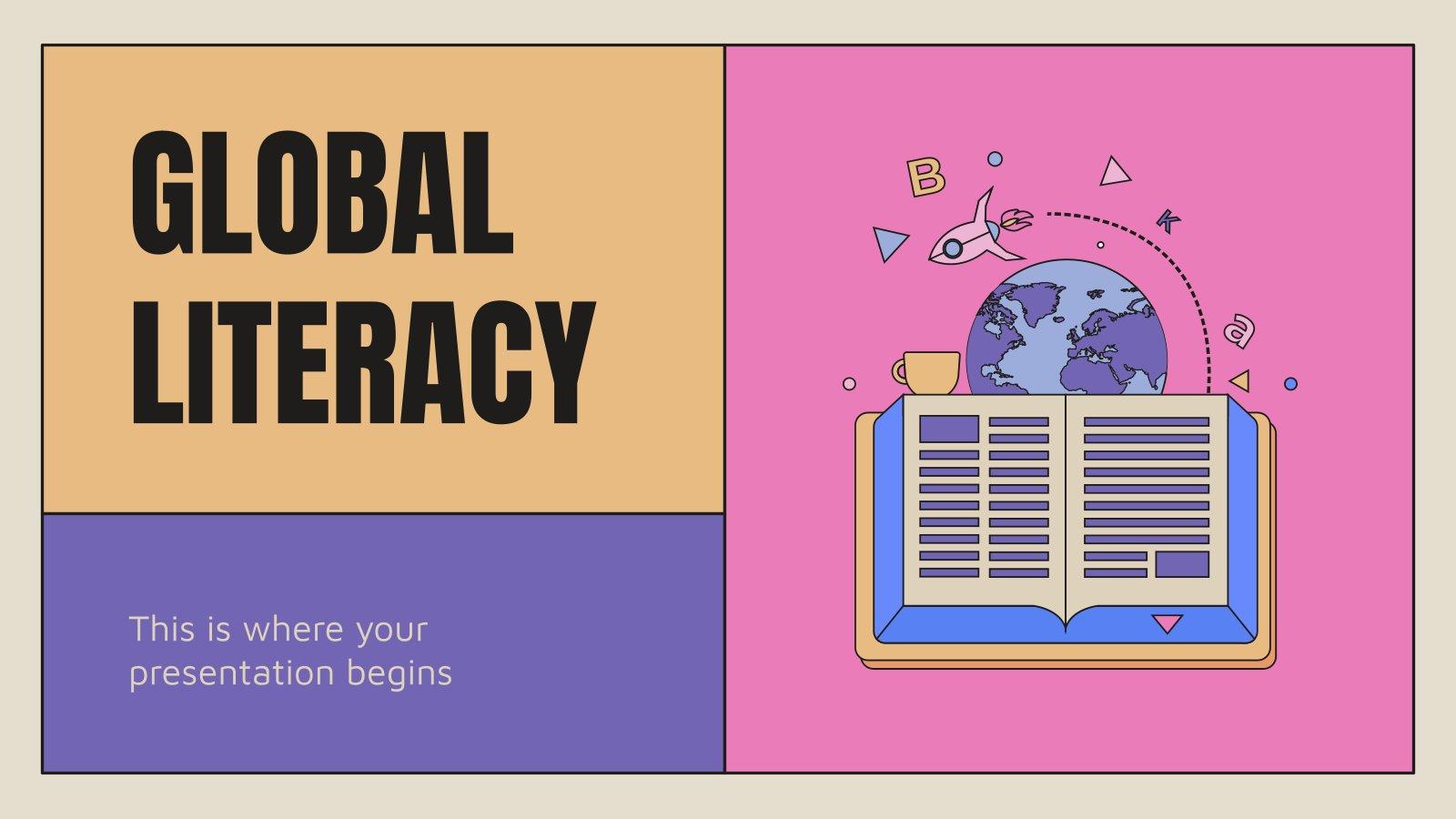 Welttag der Alphabetisierung Präsentationsvorlage