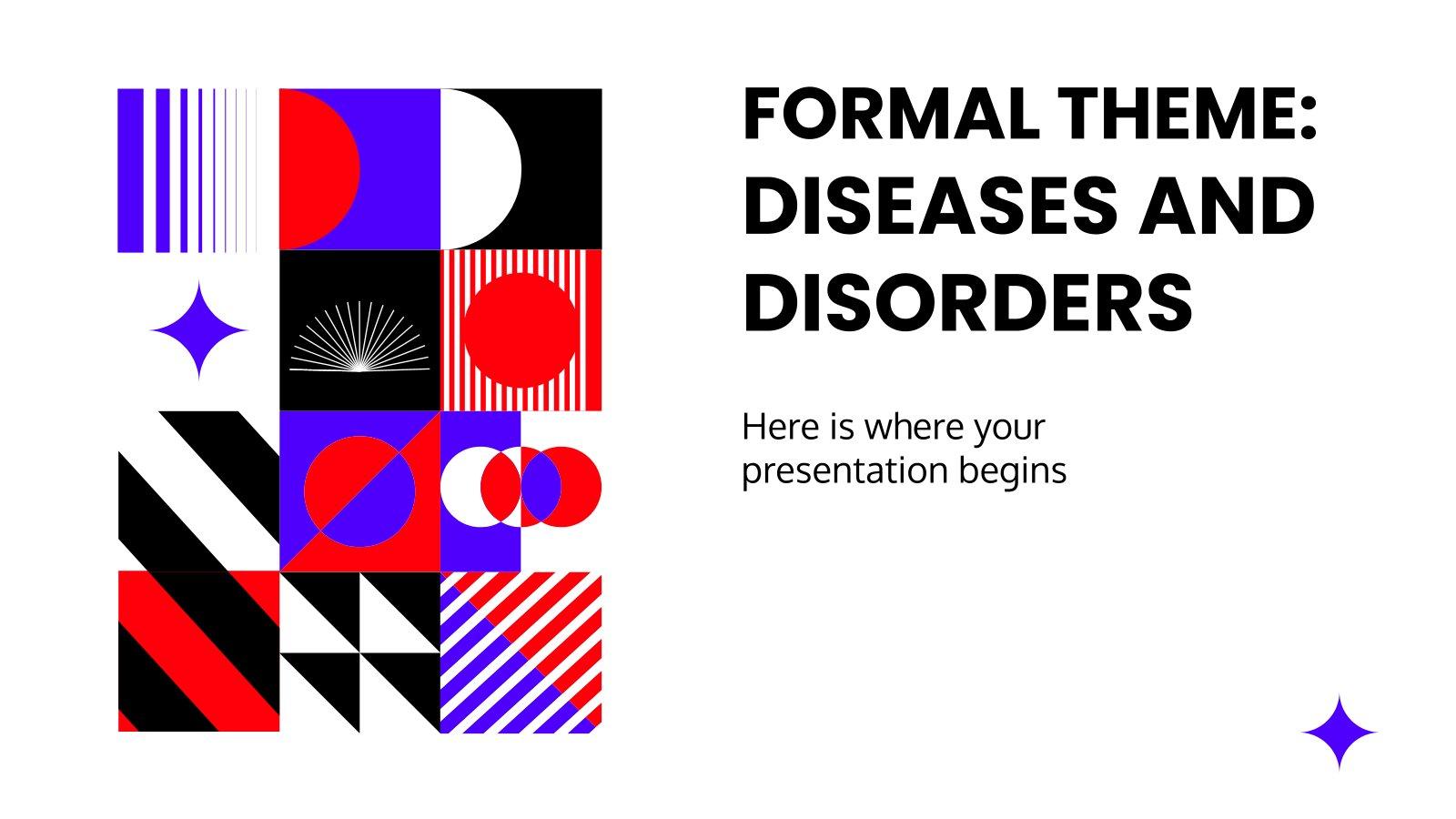 Formales Thema: Krankheiten und Störungen Präsentationsvorlage