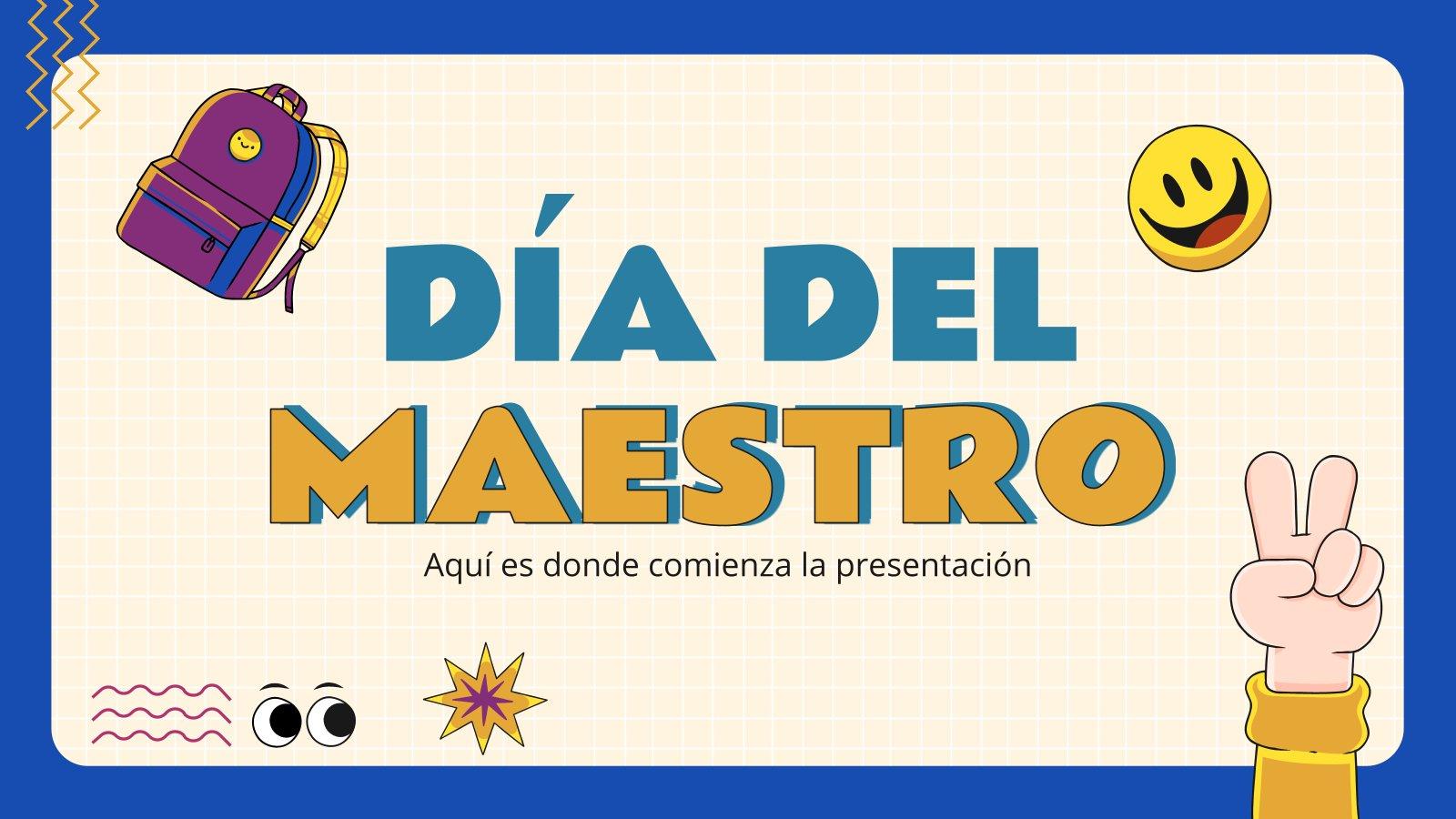 Día del Maestro presentation template