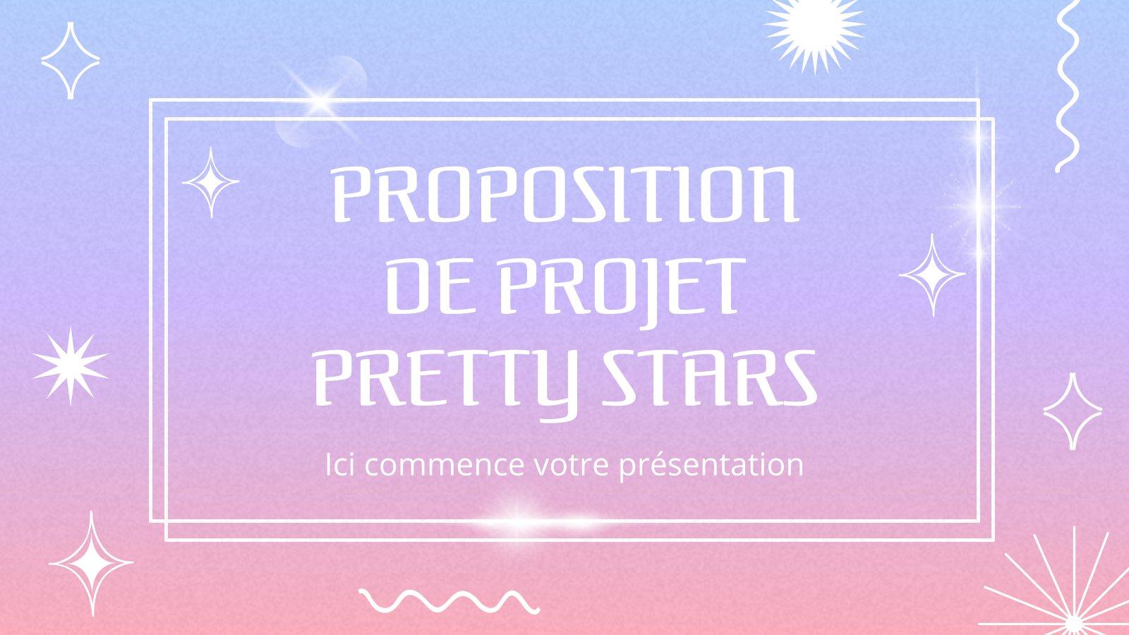 Plantilla de presentación Propuesta de proyecto Pretty Stars