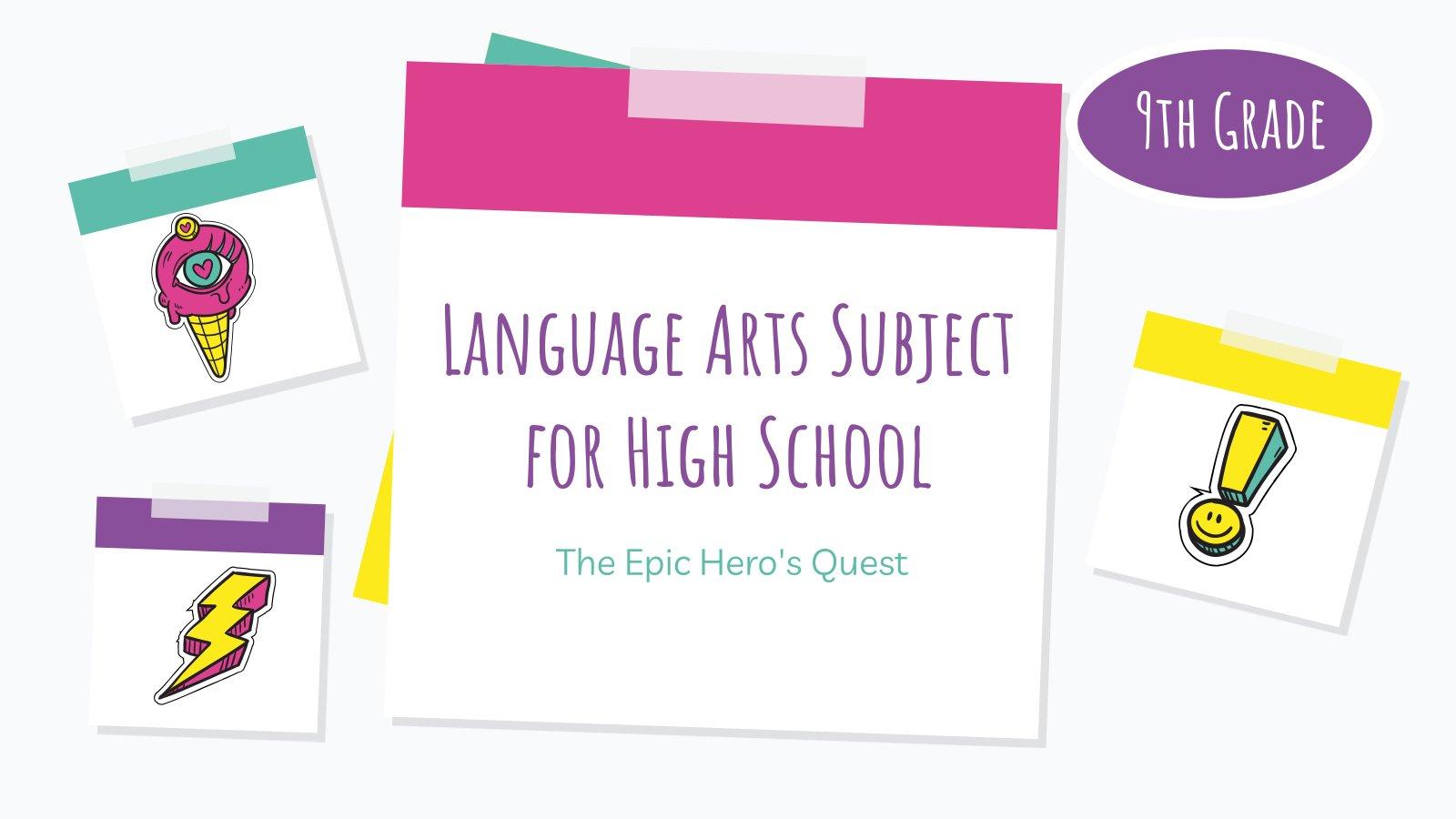 Sprache und Literatur: Das epische Abenteuer Präsentationsvorlage