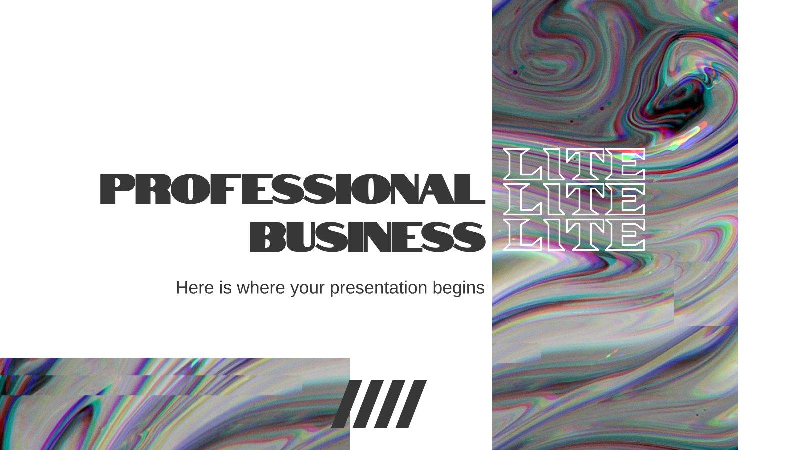 Professional Business LITE presentation template