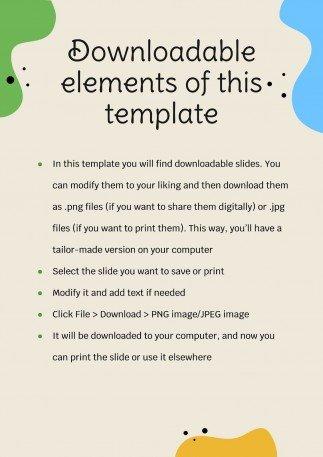 Printable Phonics Subject for Pre-K: Handwriting presentation template