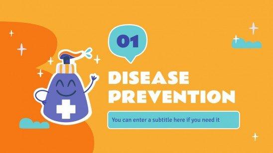 Modelo de apresentação Saúde para o ensino básico: Bem-estar e prevenção de doenças