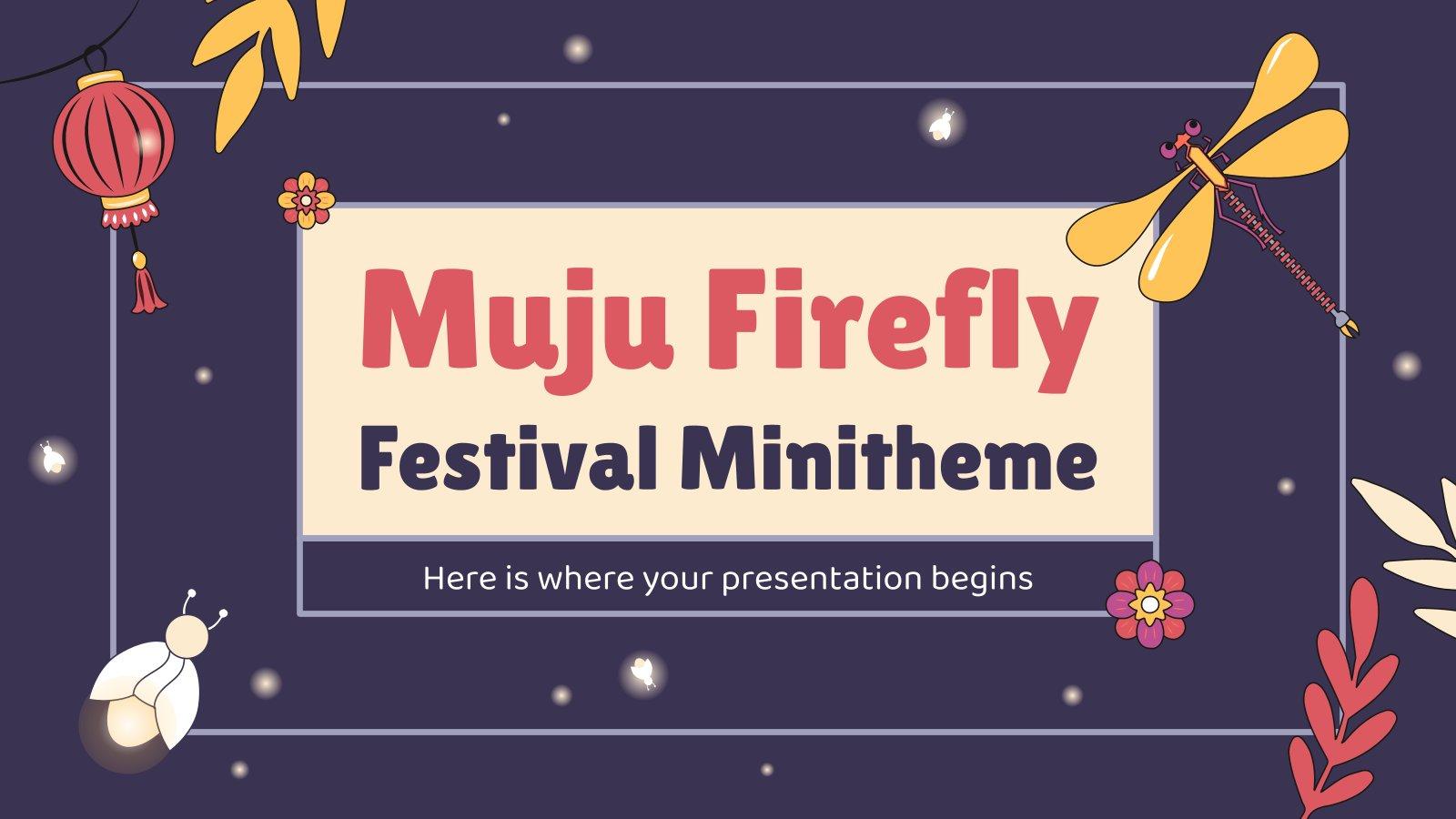 Muju Firefly Festival Minitheme presentation template