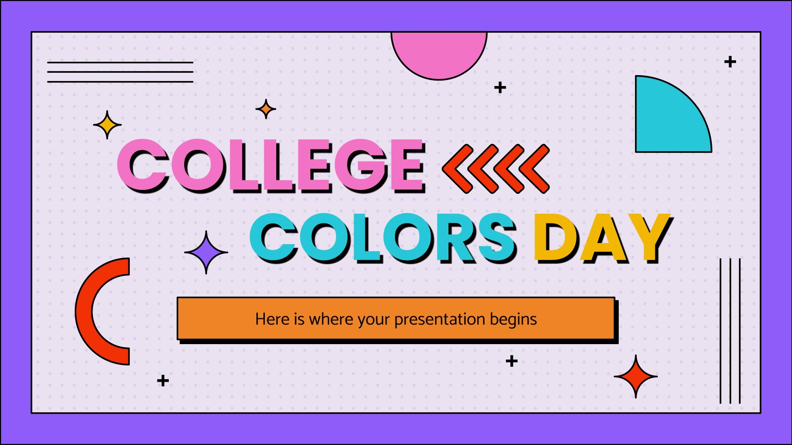 College Colors Day presentation template