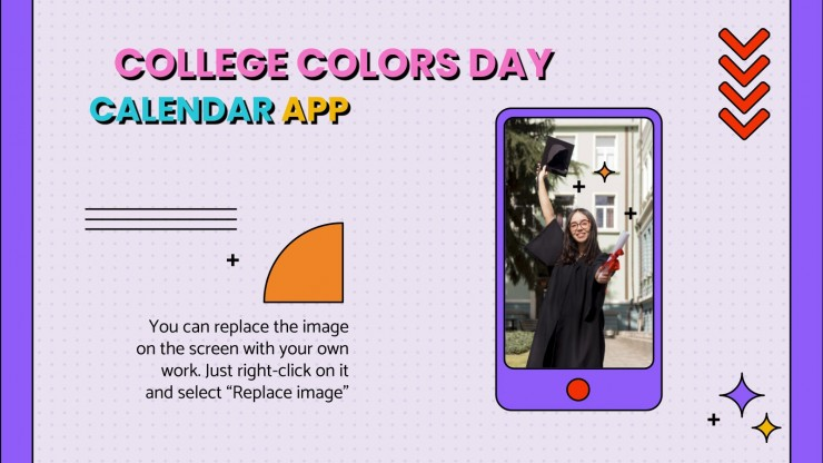Der Tag der Farben deiner Universität Präsentationsvorlage