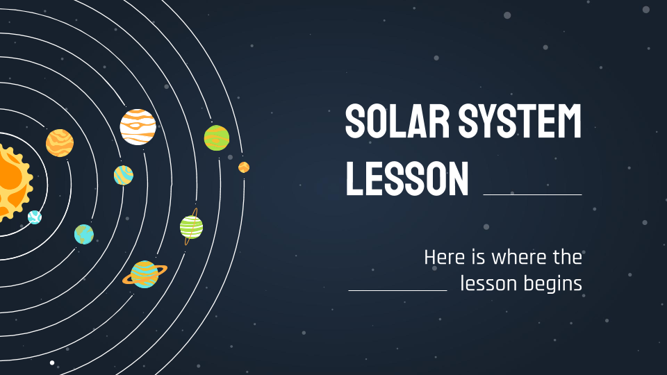 Solar System Lesson presentation template