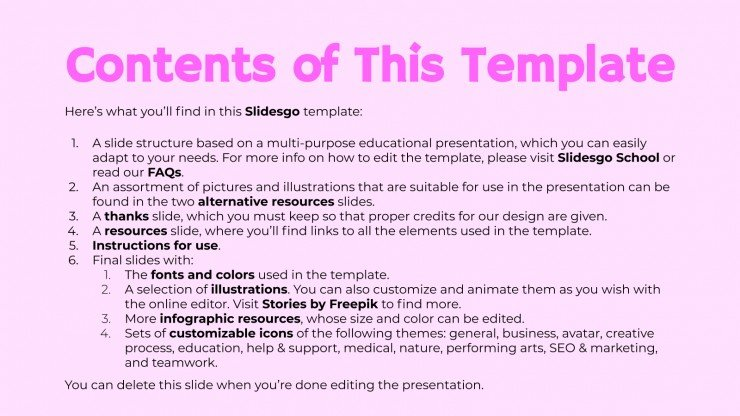 Assignments Slides presentation template