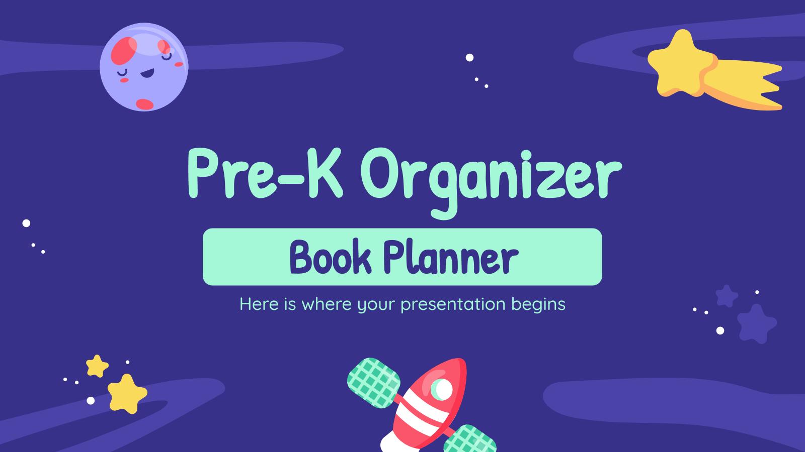 Pre-K Organizer - Book Planner presentation template