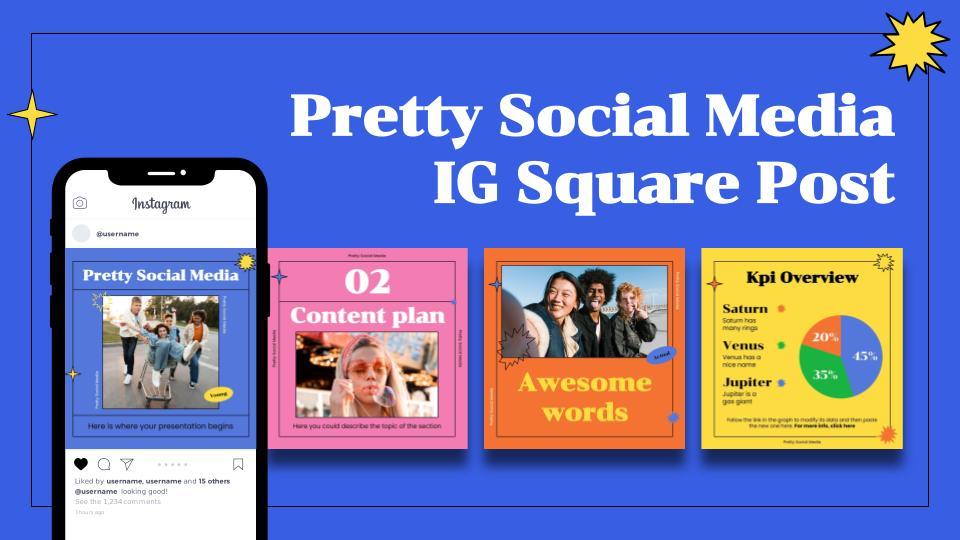 Jolis publications d'IG : Modèles de présentation