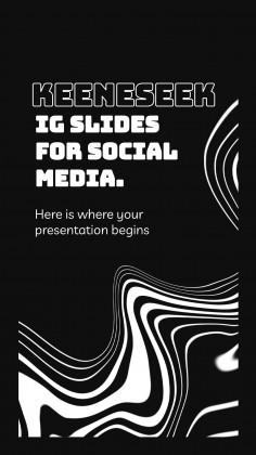 Modelo de apresentação Slides Keeneseek para mídias sociais