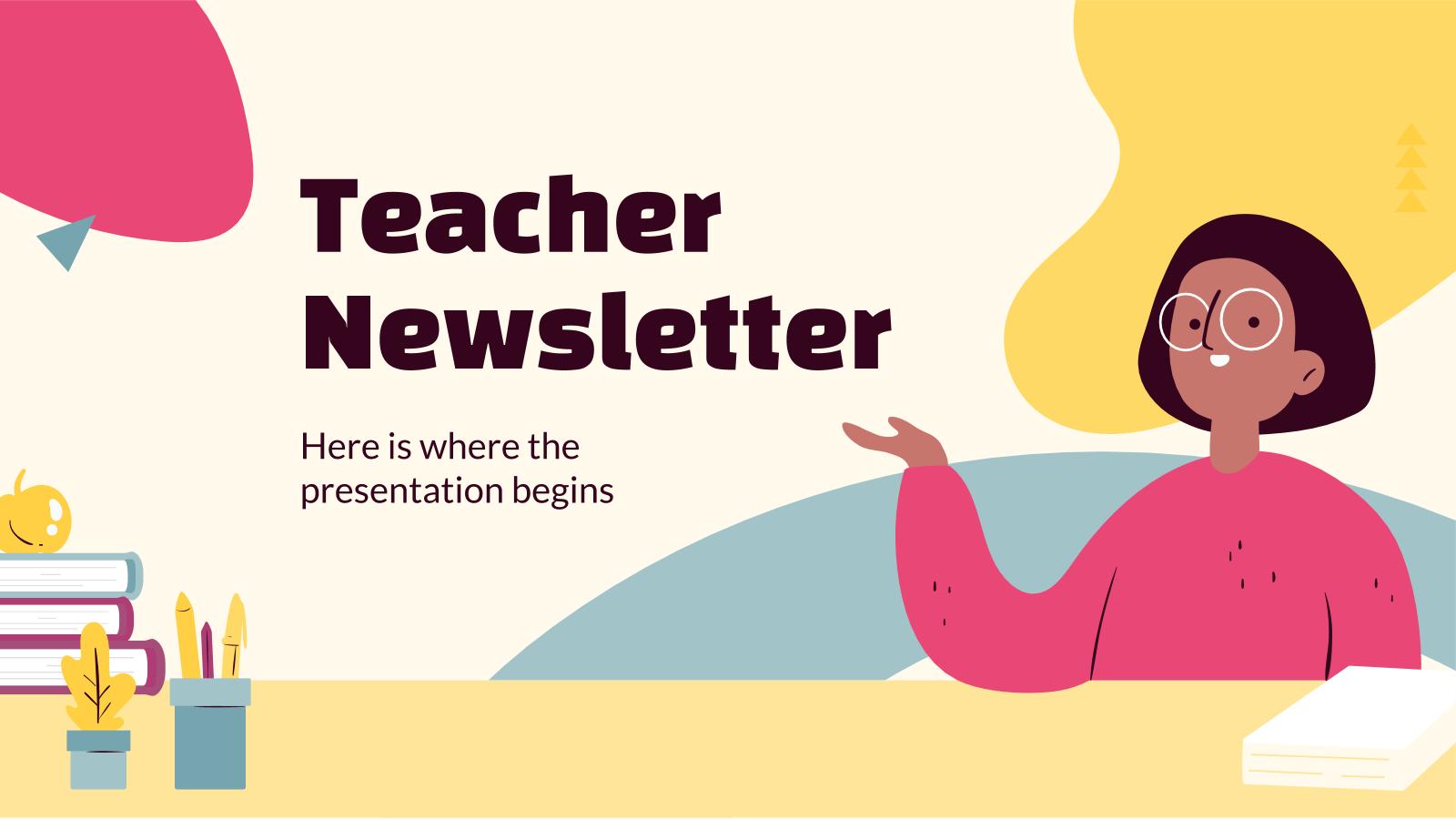 Plantilla de presentación Newsletter para profesores