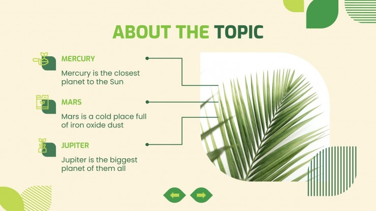 Natural Science Lesson presentation template
