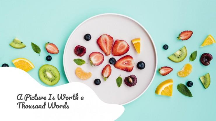 Motifs nourriture : Modèles de présentation