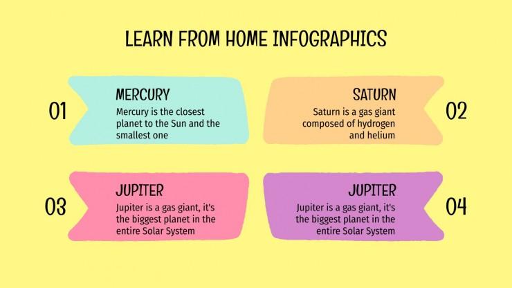 Plantilla de presentación Infografías aprende desde casa