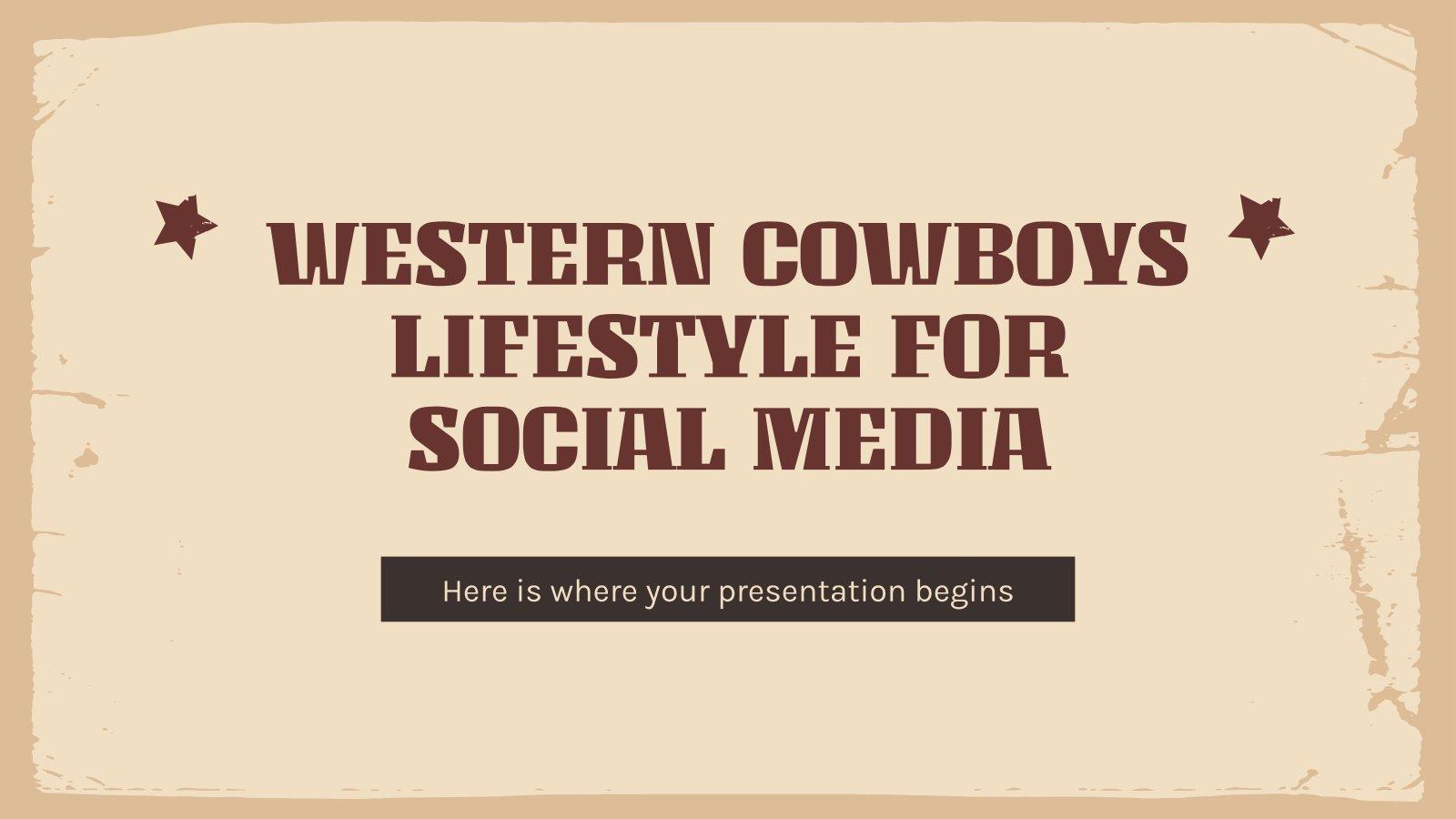 Mode de vie des cowboys du Far-West pour les réseaux sociaux : Modèles de présentation