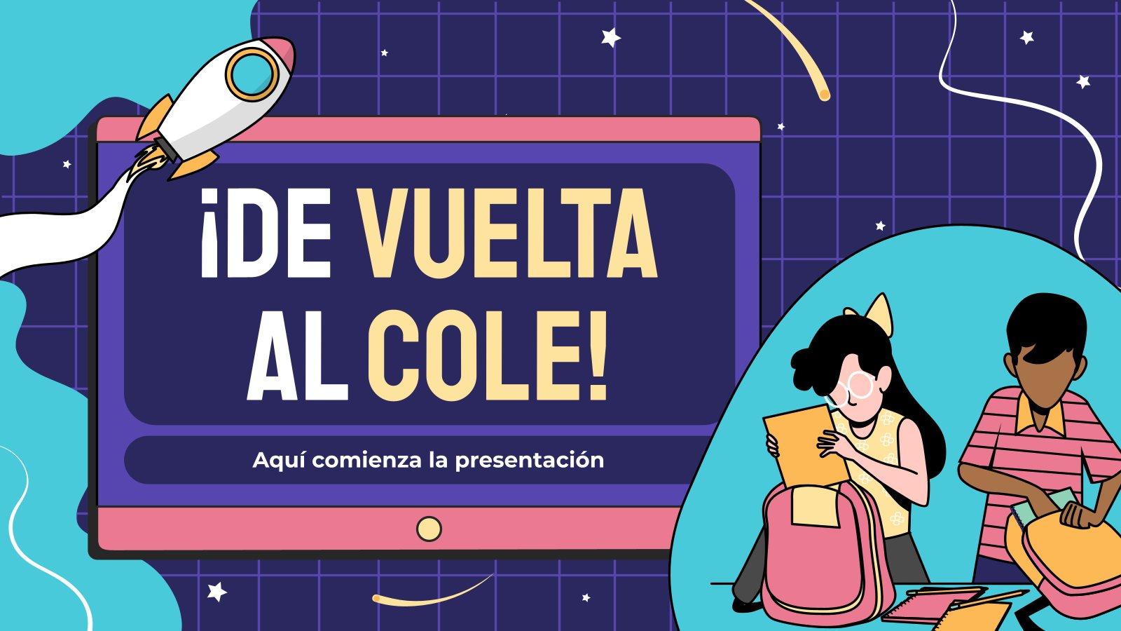 Modelo de apresentação ¡De vuelta al cole!